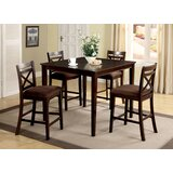 Thor 5 Piece Solid Wood Dining Set by Red Barrel Studio®