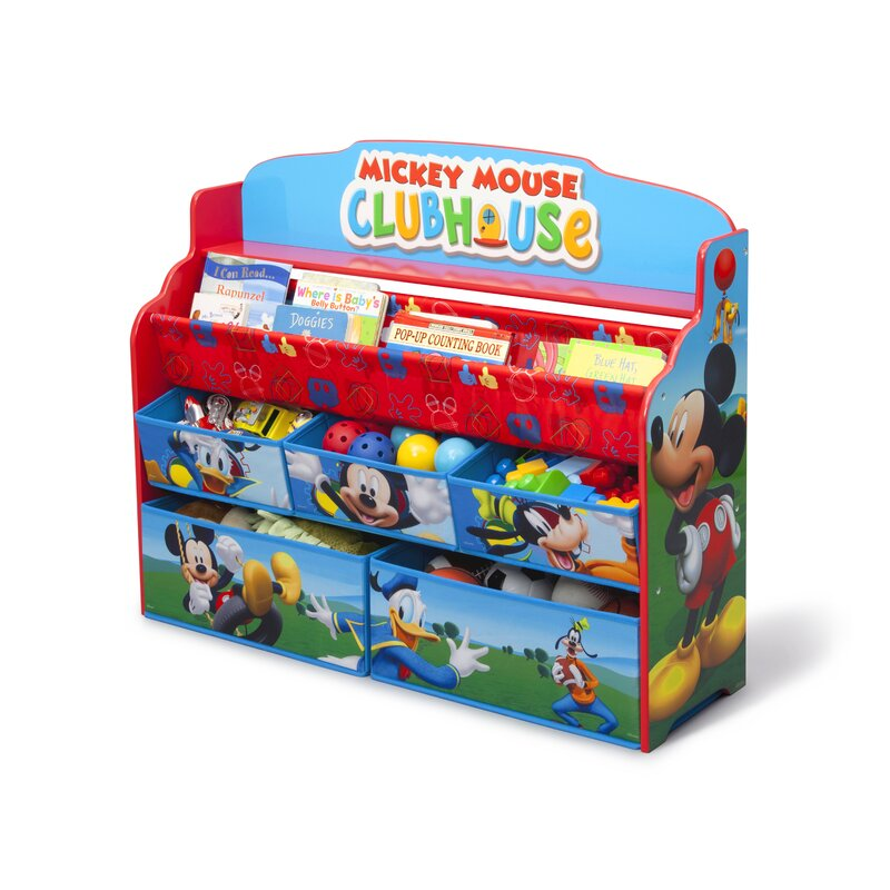 Delta Children Mickey Mouse Deluxe Book and Toy Organizer & Reviews ...