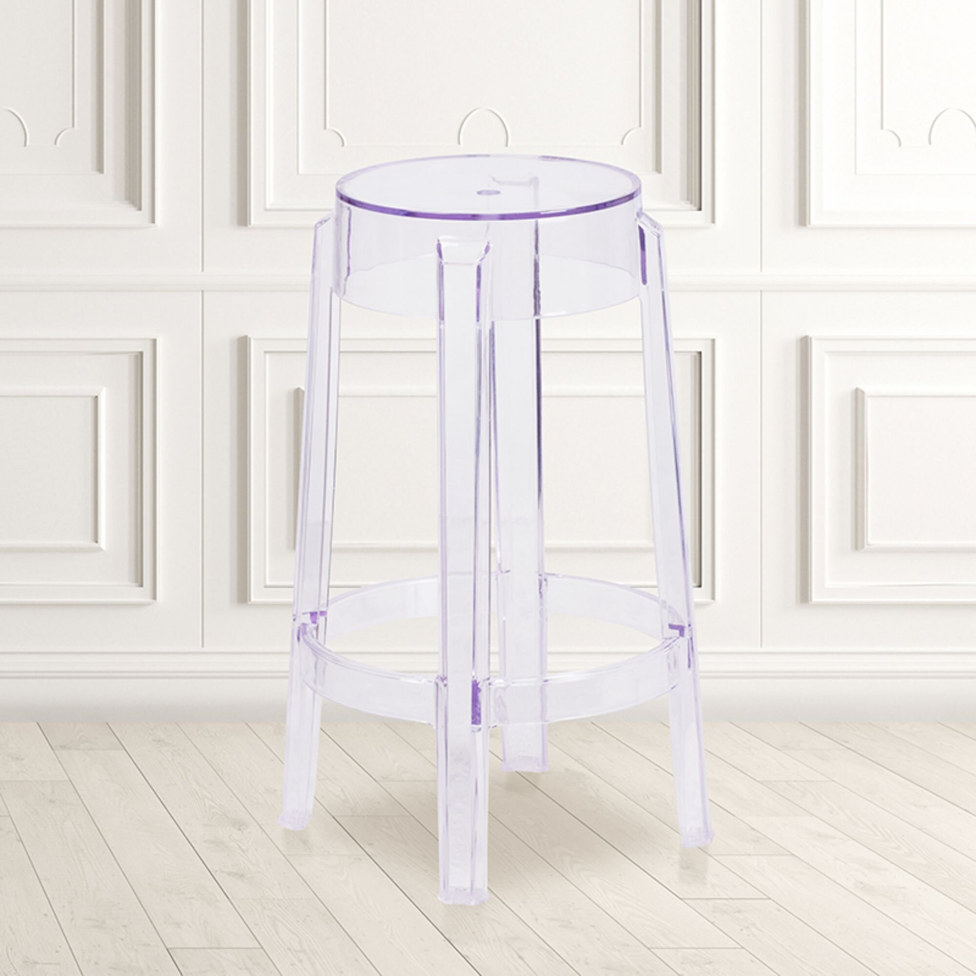 Clear Round Seat Bar Stools Counter Stools You Ll Love In 2021 Wayfair