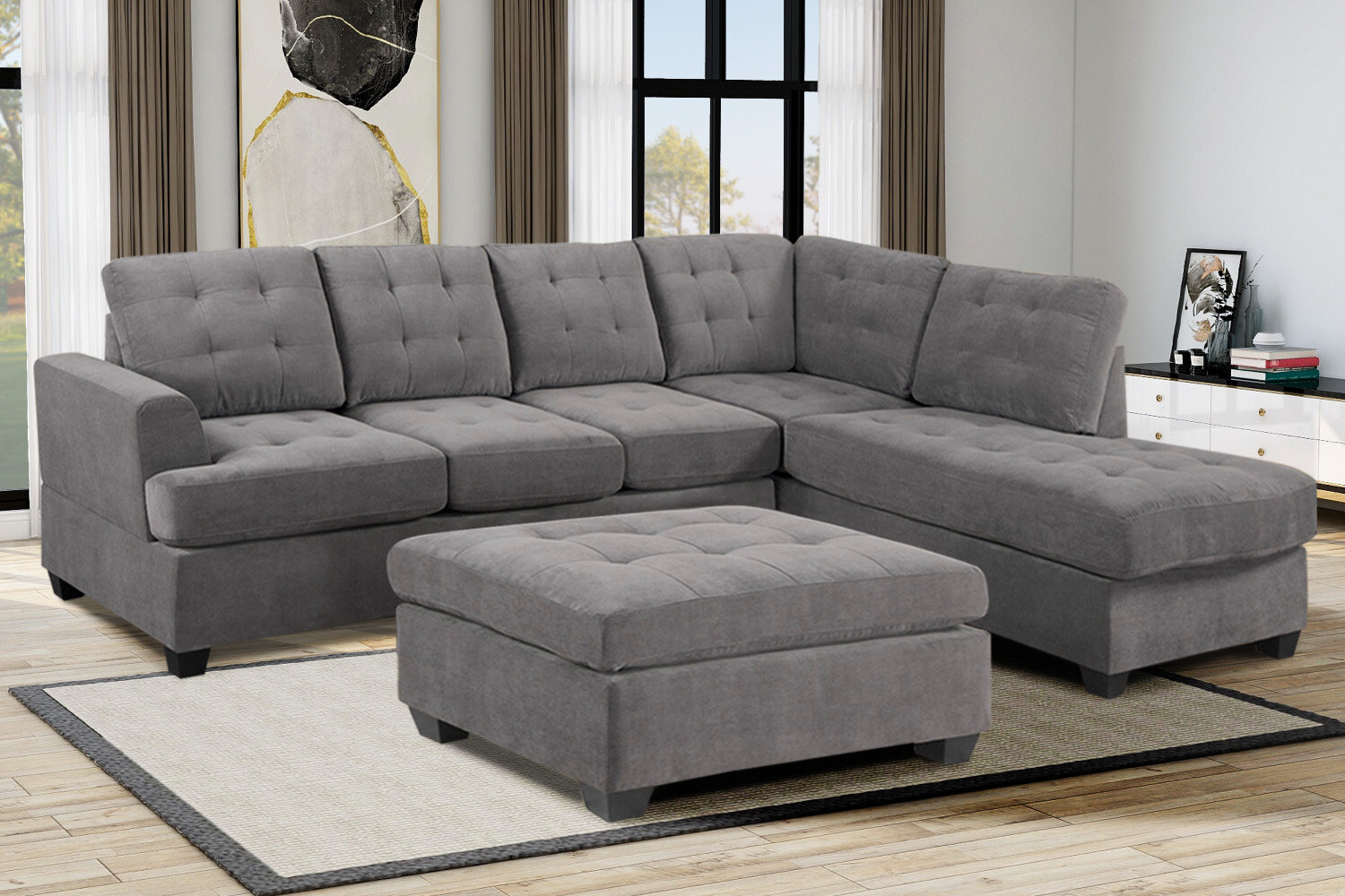 Bassie 3 Piece Sectionals You Ll Love In 2021 Wayfair