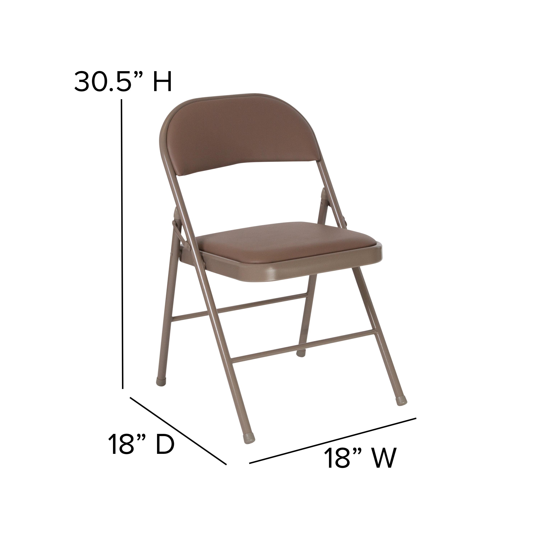 Offex Double Braced Vinyl Padded Folding Chair Wayfair