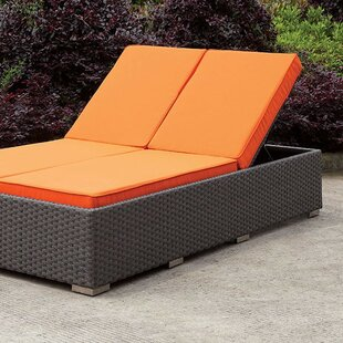 Latitude Run Percy Double Reclining Chaise Lounge with Cushion