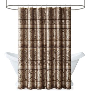 beige and brown shower curtain. Bartle Shower Curtain Brown Curtains You ll Love  Wayfair