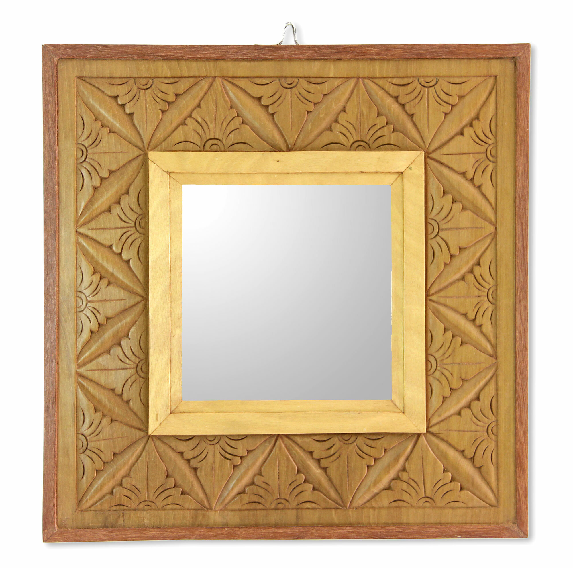 Novica Matahari Mosaic Reversible Wall Panel with Mirror in Hand ...