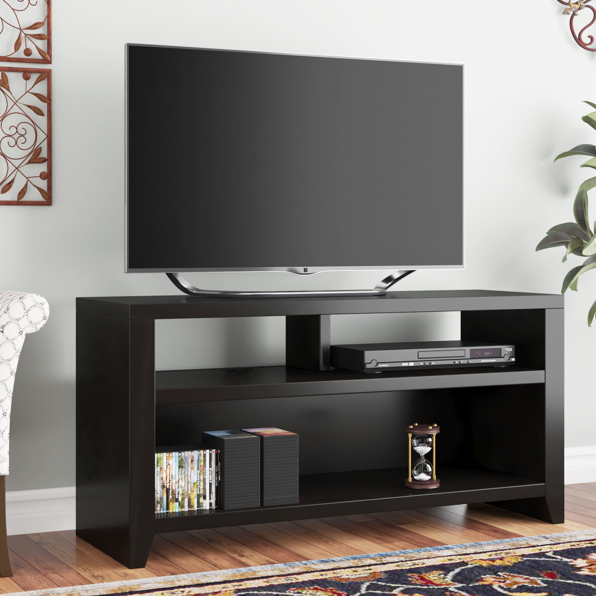 Darby Home Co Garretson Solid Wood Tv Stand For Tvs Up To 55 Reviews Wayfair
