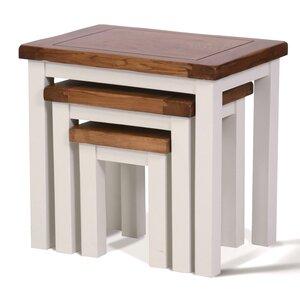 3-tlg. Satztisch-Set Ascot von Hallowood Furniture