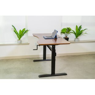 Savings Kayley Crank Adjustable Height Standing Desk By Symple Stuff
