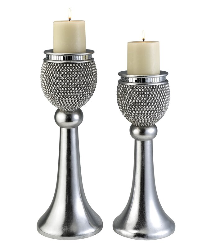 Mercer41 Barrios 2 Piece Candlestick Set Wayfair