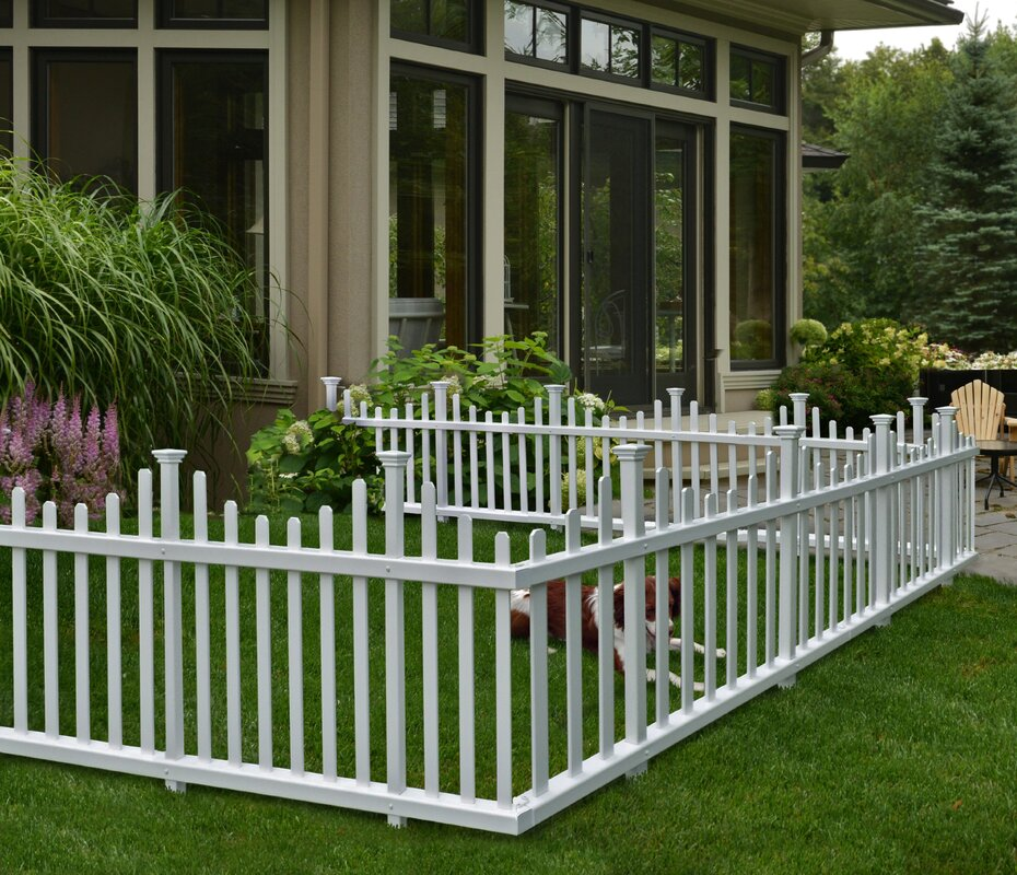 Madison No Dig Vinyl Picket Garden Fence