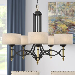 Darby Home Co Myrtle 5-Light Shaded Chandelier