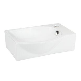 Left-Facing Ceramic 16'' Wall-Mount Bathroom Sink Elanti