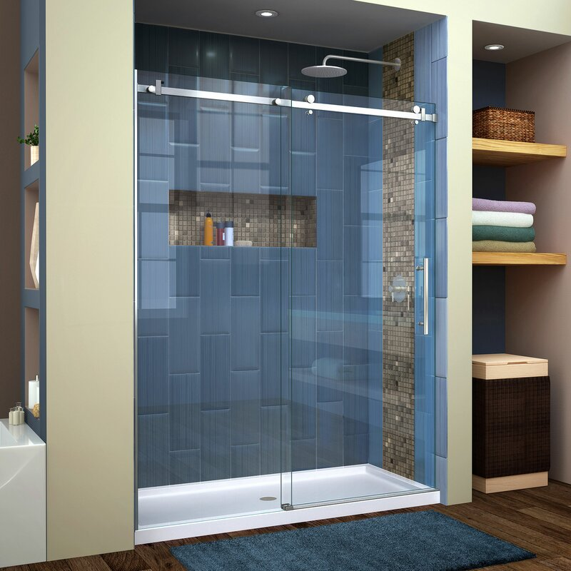 Dreamline Enigma Air 60 X 76 Single Sliding Frameless Shower Door