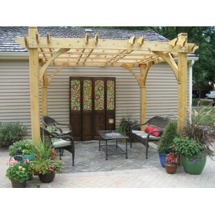 Breeze 8 Ft. W x 10 Ft. D Solid Wood Pergola by Outdoor Living Today