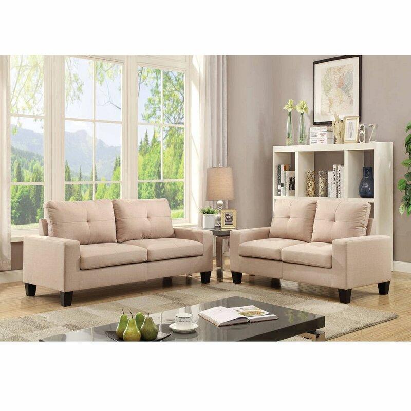 Latitude Run Desiraye 2 Piece Living Room Set