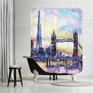 Brayden Studio Markus Bleichner Lyles London England the Shard and Tower Bridge 2 Shower Curtain