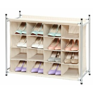 Rebrilliant Storage 16 Pair Shoe Rack