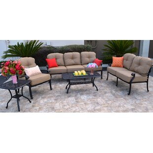 Three Posts Sidney 5 Piece Sunbrella Sofa Set with Cushions