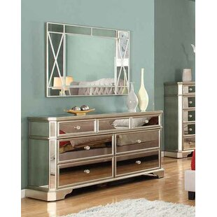 Borghese 7 Drawer Dresser With Mirror