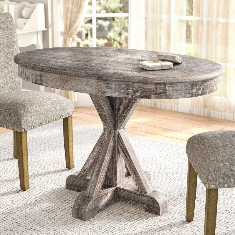 Lark Manor Thimeo Oval Dining Table & Reviews | Wayfair