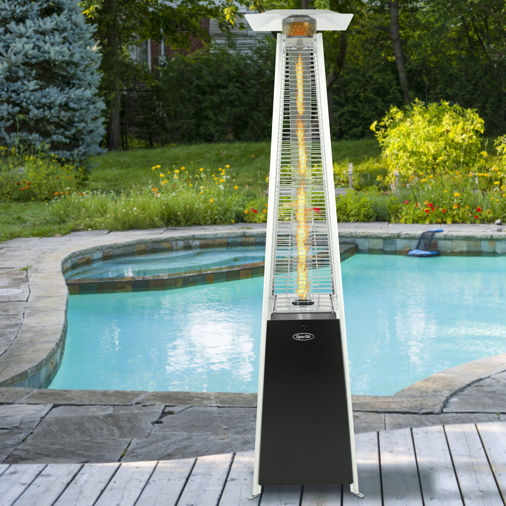 Dyna Glo Pyramid Flame 42 000 BTU Propane Patio Heater & Reviews