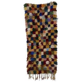 Great choice Boucherouite Azilal Hand-Woven Camel/Green Area Rug ByCasablanca Market