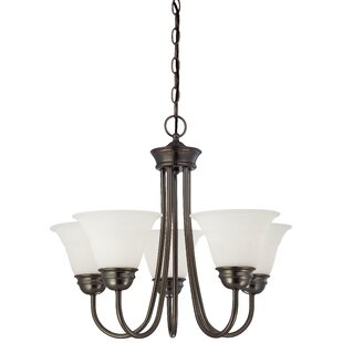 Alcott Hill Ripley Modern 5-Light Shaded Chandelier