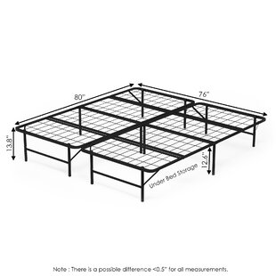 Hoglund Mattress Foundation Platform Metal Bed Frame