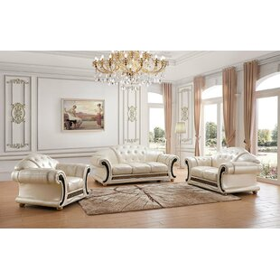 Fortune 3 Piece Living Room Set by House of Hampton