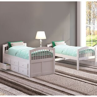 Gaenor Twin over Twin Bunk Bed with Trundle and 3 Drawers