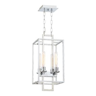 Compare prices Gretna 4-Light Square/Rectangle Pendant By Wade Logan