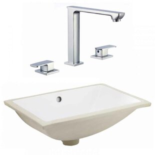 Buying CSA Ceramic Rectangular Undermount Bathroom Sink with Faucet and Overflow ByRoyal Purple Bath Kitchen