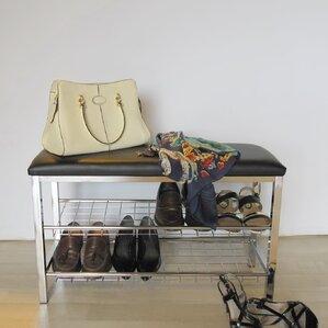 8 pair shoe storage bench