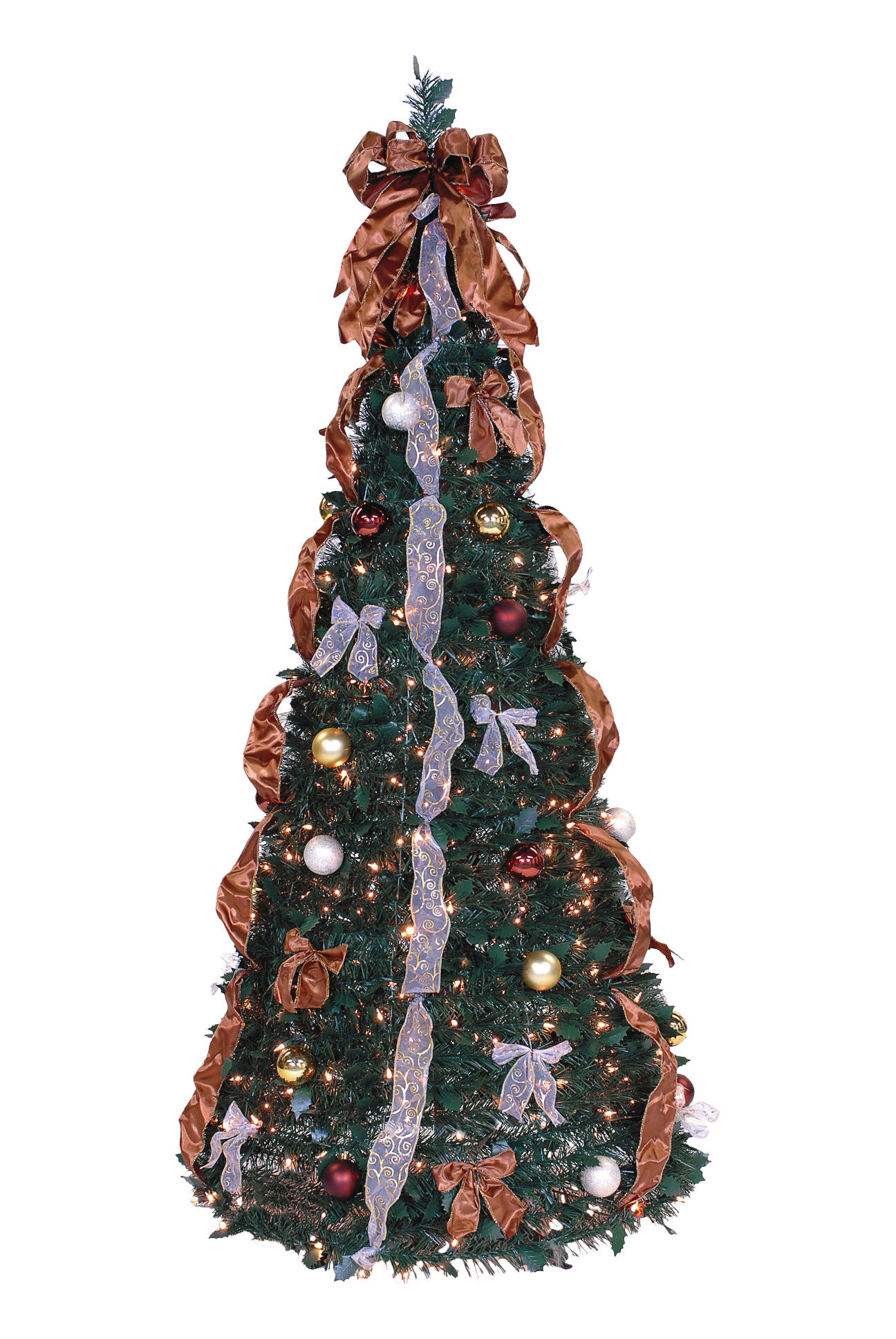 The Holiday Aisle Pop Up 6 Green Artificial Christmas Tree With 350