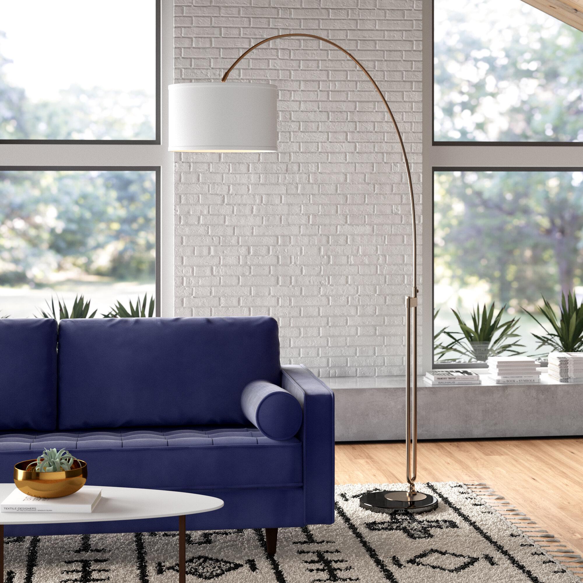 Lorena 84 Arched Floor Lamp Reviews Allmodern
