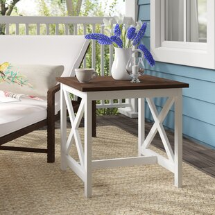 Fequiere Outdoor Wooden End Table