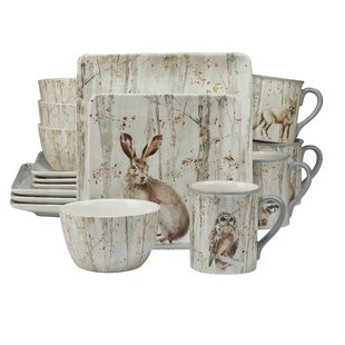 Freeborn A Woodland Walk 16 Piece Dinnerware Set Service for 4  sc 1 st  Birch Lane : dinnerware settings - pezcame.com