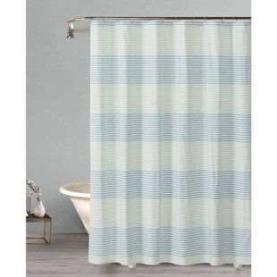 Reviews Cascade Cabana Stripe Yarn Dyed Cotton Shower Curtain By August Grove