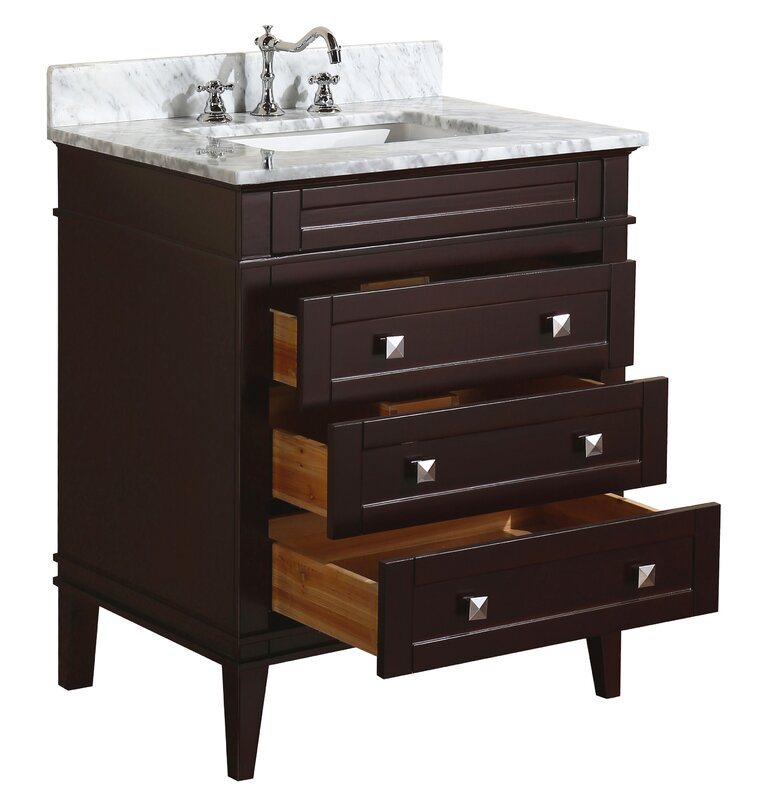 KBC Eleanor  Single Bathroom Vanity Set  Reviews Wayfair - 30 bathroom vanity with sink