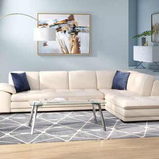 Birch Lane Leather Sectional | Wayfair