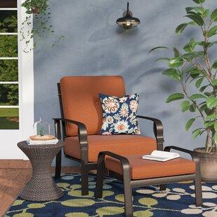 Red Barrel Studio Waynesburg Deep Seating Club Chair & Ottoman with Cushions