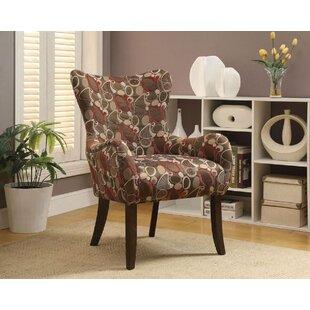 Latitude Run Cinna Fabric Wingback Chair