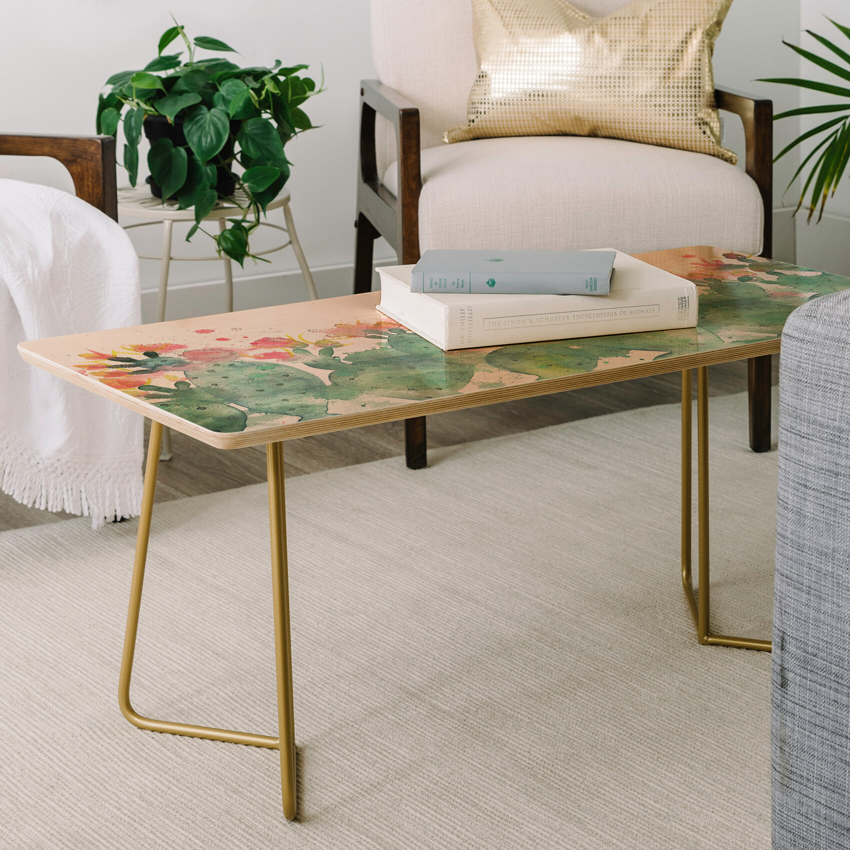 East urban home dash and ash messy cactus coffee table wayfair