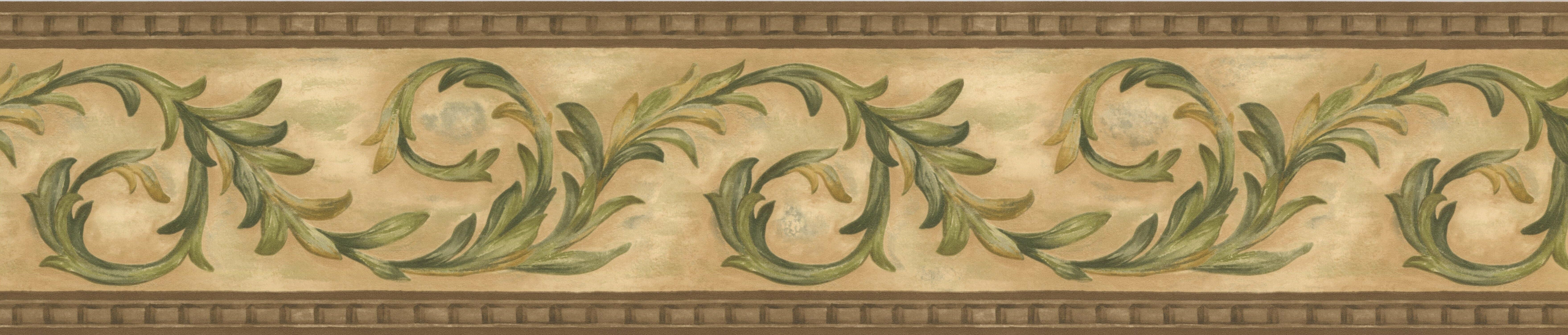Astoria Grand Krieg Vines Retro Design 15\' L x 10.5\'\' W Damask ...