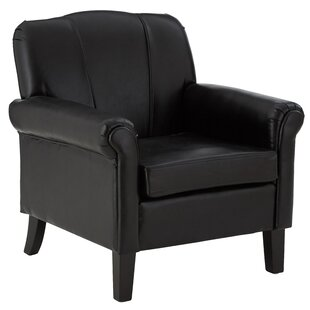 Mendes Bonded Leather Club Chair By Ophelia & Co.