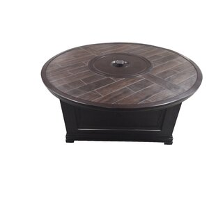 Bungalow Aluminum Propane Fire Pit Table with Porcelain Top