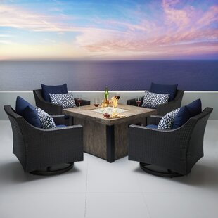 Three Posts Northridge 5 Piece Conversation Set with Cushions
