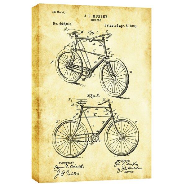 Cortesi home bicycle vintage patent blueprint graphic art on canvas cortesi home bicycle vintage patent blueprint graphic art on canvas wayfair malvernweather Image collections