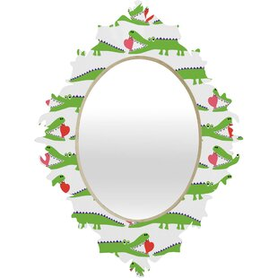 Deny Designs Andi Bird Alligator Love Baroque Accent Mirror