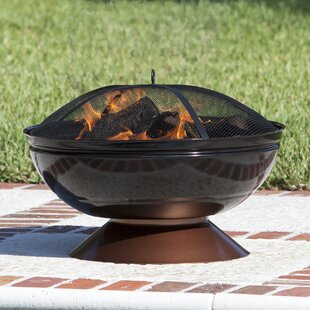 Fire Sense Steel Wood Burning Fire Pit