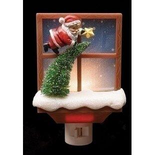 Northlight Seasonal Santa Claus with Tree Decorative Christmas Night Light